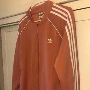 Adidas 3 Stripe track jacket XL Ash Pink